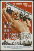 "Movie Posters:Science Fiction, War of the Colossal Beast (American International, 1958). One Sheet(27"" X 41""). Science Fiction...."