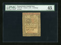 Colonial Notes:Pennsylvania, Pennsylvania October 1, 1773 10s PMG Choice Extremely Fine 45....