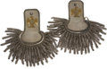 Military & Patriotic:Civil War, Great Set of C. 1840 American Militia Infantry Officer's Epaulettes. Silver bullion boards with silvered brass crescents, ex... (Total: 2 Items)