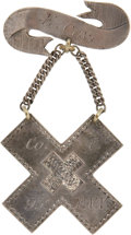 Military & Patriotic:Civil War, Jeweler Marked Silver Corps Badge of a Gosline's Zouave. Worn by a member of the 95th Pa. Vol. Infantry is this fine quality...
