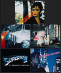 """Movie Posters:Action, Superman II (Warner Brothers, 1981). Mini Lobby Cards (5) (8"""" X10""""), Lobby Cards (4) (11"""" X 14""""), and Jumbo Lobby Cards (2)...(Total: 15 Items)"""