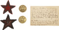 Military & Patriotic:Civil War, Two XX Corps Badges and Buttons from 143rd New York Commander.... (Total: 4 Items)