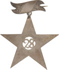 Military & Patriotic:Civil War, Stunning Civil War Silver 12th Corps/ID Badge of Edward Smith, 28th Penna. Inf., mortally wounded at Kennesaw Mountain June ...