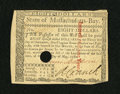 Colonial Notes:Massachusetts, Massachusetts May 5, 1780 $8 Choice New....