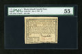 Colonial Notes:Rhode Island, Rhode Island July 2, 1780 $1 PMG About Uncirculated 55....