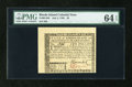 Colonial Notes:Rhode Island, Rhode Island July 2, 1780 $5 PMG Choice Uncirculated 64 EPQ....
