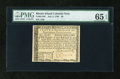 Colonial Notes:Rhode Island, Rhode Island July 2, 1780 $8 PMG Gem Uncirculated 65 EPQ....