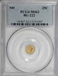 California Fractional Gold: , Undated 25C Liberty Round 25 Cents, BG-222, R.2, MS62 PCGS. PCGSPopulation (127/226). NGC Census: (15/34). (#10407)...