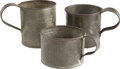 Military & Patriotic:Civil War, Group of Three Differently Sized Civil War Regulation Issue Tin Cups.... (Total: 3 Items)