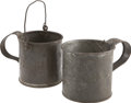 Military & Patriotic:Civil War, Civil War Regulation Issue Tin Cup and Coffee Boiler. ... (Total: 2 Items)