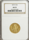 Liberty Half Eagles: , 1873-S $5 AU55 NGC. NGC Census: (13/3). PCGS Population (4/2).Mintage: 31,000. Numismedia Wsl. Price for NGC/PCGS coin in ...