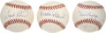 Autographs:Baseballs, Hall of Fame Sluggers Single Signed Baseballs Lot of 3. ...