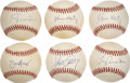 Autographs:Baseballs, Los Angeles Dodgers Single Signed Baseballs Lot of 6....