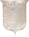 Military & Patriotic:Civil War, Unique Identification Badge Worn by Twice-Wounded New York Officer. ...
