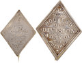 Military & Patriotic:Civil War, Two Silver 3rd Corps Badges.... (Total: 2 Items)