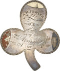 "Military & Patriotic:Civil War, Great Civil War Silver Corps/ID Badge, of ""A. M. Fowler/U. S. Mail Agent/of/2d Army Corps/A. of P.""..."