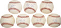 Autographs:Baseballs, Baseball Stars Single Signed Baseballs Lot of 7. ...