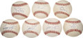 Autographs:Baseballs, 1980s New York Mets Stars Single Signed Baseballs Lot of 7....