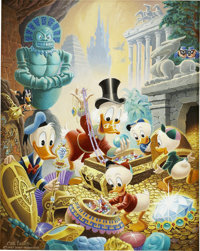 Carl Barks Wanderers of Wonderlands Painting Original Art (1981)