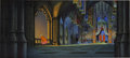 Animation Art:Production Drawing, Sleeping Beauty Animation Background Painting with CelSet-Up Original Art (Disney, 1959)....