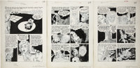 "Gene Fawcette Out of the Shadows #14 Complete 3-page Story ""When Death Takes a Hand"" Original Art (Standard, 1..."