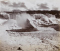 Photography :Albumen , GEORGE BARKER (American, 1844-1894). Frozen Niagara, Falls from the Canadian Side with Camera, 1880s. Albumen, 1880s. 16...
