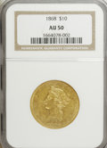 Liberty Eagles: , 1868 $10 AU50 NGC. NGC Census: (13/55). PCGS Population (17/21).Mintage: 10,665. Numismedia Wsl. Price for NGC/PCGS coin i...