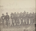 "Military & Patriotic:Civil War, Civil War Albumen View of Hardened 3rd Army Corps Federal Infantrymen. Measures 7¾"" X 6¼"". In the field with their camp in t..."