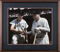Autographs:Photos, Ted Williams And Babe Ruth Signed Framed Photo....