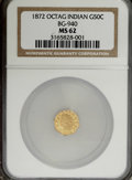 California Fractional Gold: , 1872 50C Indian Octagonal 50 Cents, BG-940, R.4, MS62 NGC. NGCCensus: (2/13). PCGS Population (10/50). (#10798). From ...
