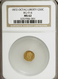 California Fractional Gold: , 1872 50C Liberty Octagonal 50 Cents, BG-914, R.4, MS62 NGC. NGCCensus: (1/5). PCGS Population (12/31). (#10772). From ...