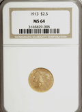Indian Quarter Eagles: , 1913 $2 1/2 MS64 NGC. NGC Census: (747/53). PCGS Population(684/91). Mintage: 722,000. Numismedia Wsl. Price for NGC/PCGS ...