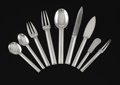 Silver Flatware, Continental:Flatware, JEAN E. PUIFORCAT (French, 1887-1945). A French Silver Flatware Service in the Cannes Pattern, circa 1928. Marks: PUIF... (Total: 134 Items)