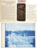 General Historic Events:World Fairs, World's Columbian Exposition: Rodney Dexter's Daily Diary, Photograph, Railway Sheet with Map, and a Ticket.... (Total: 5 Items)