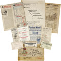 General Historic Events:World Fairs, World's Columbian Exposition: Unique Group of Travel and RailroadTickets for Passage to the Fair.... (Total: 11 Items)
