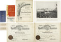 General Historic Events:World Fairs, World's Columbian Exposition: Group of Very Interesting Invitations, Tickets, Photos, Guides and Related Items,... (Total: 8 Items)