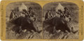"""Photography:Stereo Cards, [George A. Custer] Illingworth Stereoview: """"Our First Grizzly, Killed by General Custer"""", 1874...."""