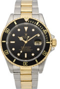Timepieces:Wristwatch, Rolex Men's Twotone Submariner Ref. 16610, circa 1991. ...