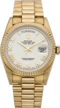 Timepieces:Wristwatch, Rolex Men's Gold President, Ref. 18220, circa 1995. ...
