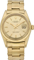 Timepieces:Wristwatch, Rolex Early Gold Oyster Perpetual, circa 1968. ...