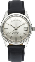 Timepieces:Wristwatch, Jaeger LeCoultre Men's Master Mariner Steel Wristwatch, circa1960's. ...