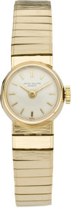 Timepieces:Wristwatch, Patek Philippe Lady's Gold Bracelet Watch, circa 1965. ...