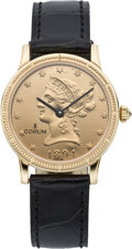 Timepieces:Wristwatch, Corum Ten Dollar Gold Coin Wristwatch, modern. ...