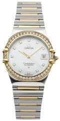 Timepieces:Wristwatch, Omega Lady's Constellation with Diamonds, circa 1995. ...
