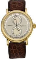 "Timepieces:Wristwatch, Leonardo Spinelli Gold ""Pezzo Unico Mysterieux"" Wristwatch, circa1990. ..."