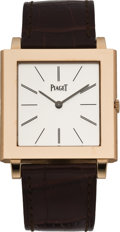 "Timepieces:Wristwatch, Piaget Rose Gold ""Mechanique"" Wristwatch, circa 2005. ..."