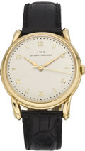 Timepieces:Wristwatch, International Watch Co. Large Center Seconds Gold Wristwatch, circa1960's. ...