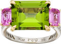 Estate Jewelry:Rings, Peridot, Pink Sapphire, Diamond, Platinum, Gold Ring, PaoloCostagli. ...