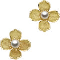 Estate Jewelry:Earrings, Cultured Pearl, Gold Earrings, Tiffany & Co.. ... (Total: 2Items)