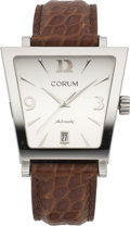 "Timepieces:Wristwatch, Corum ""Trapeze"" Stainless Automatic, modern. ..."